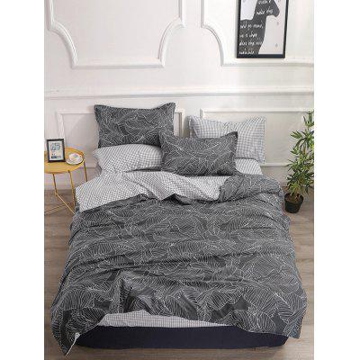 Leaf Printed 4 PCS Bedding Set