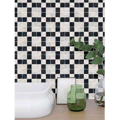 19PCS Color Block Square Tile Pattern Wall Stickers