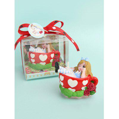 Cartoon Teacup Princess Shape Decorative Candle