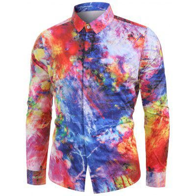 Colorful Painting Printed Casual Shirt