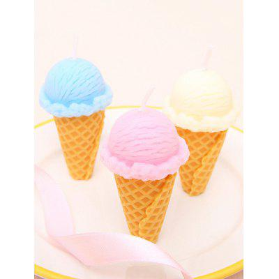 3PCS Ice Cream Shape Candles