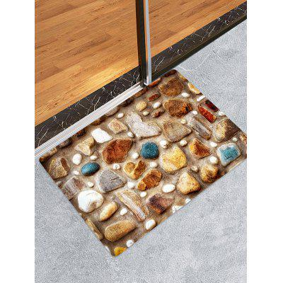Stone Wall Printed Pattern Floor Mat