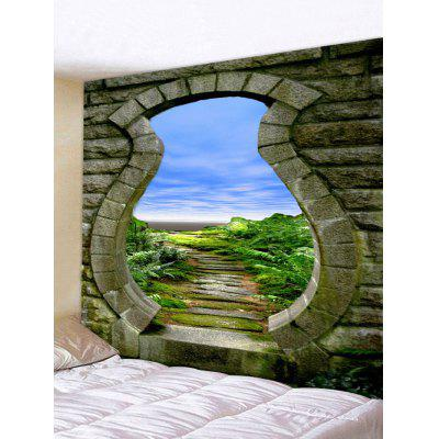 Bricks Door Print Art Decoration Wall Tapestry