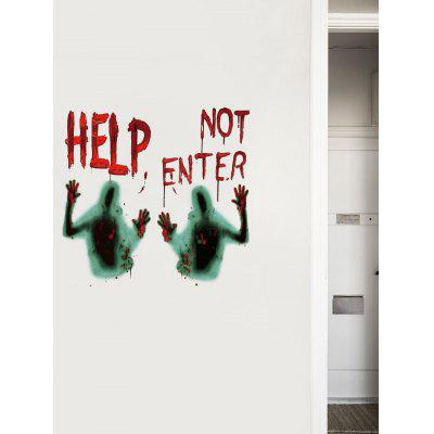 Halloween Ghost Letters Print Decorative Wall Art Stickers