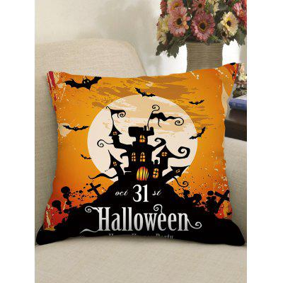 Halloween Theme Print Gothic Pillow