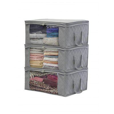 Folding Storage Bag Clothes Blanket Closet Sweater Organizer Box