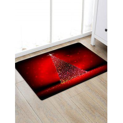 Christmas Tree Lights Print Floor Rug