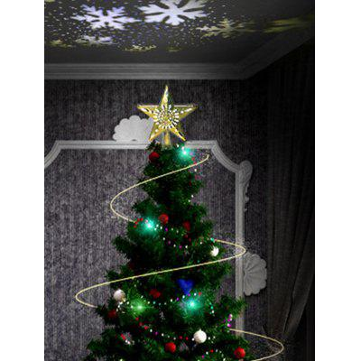 Star Shape Christmas Tree Topper with Rotatable LED Projector Light