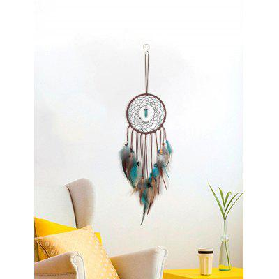Faux Turquoise Beaded Handmade Indian Dream Catcher