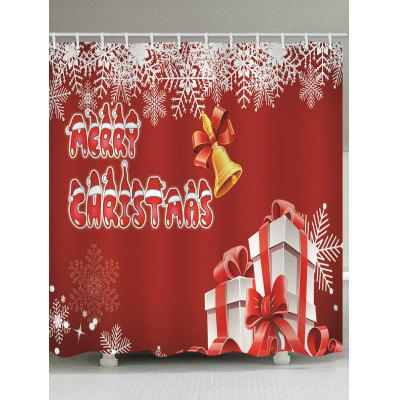 Merry Christmas Bell Waterproof Shower Curtain
