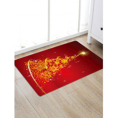 Christmas Tree Snowflake Pattern Floor Rug
