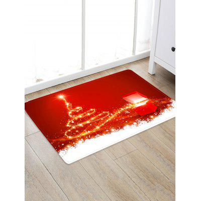 Christmas Tree Box Pattern Floor Rug
