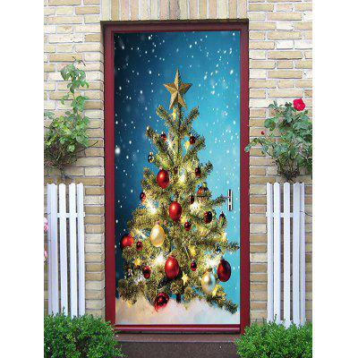 Christmas Tree Ball Door Art Stickers