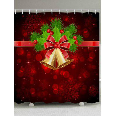 Christmas Snowflake Bell Waterproof Shower Curtain