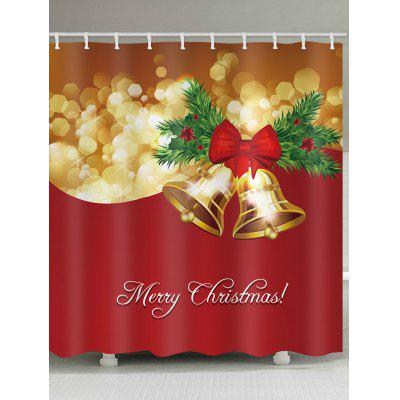 Christmas Bell Waterproof Shower Curtain