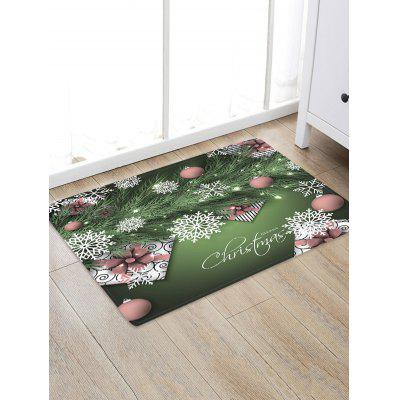 Christmas Branch Gifts Snowflake Pattern Water Absorption Area Rug