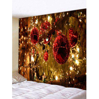 Christmas Ball Light Tree Print Tapestry Wall Hanging Art Decoration