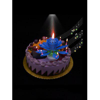 Double Layered Rotating Lotus Shape Birthday Candles