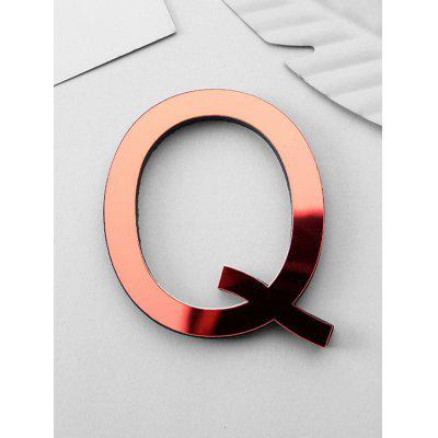 3D Letter Design Wall Sticker