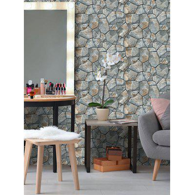 Thick Leather Stone Printed Adhesive Wall Stickers