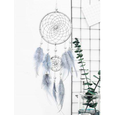 Faux perle perlée Ombre plume Dream Catcher