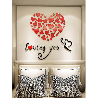 Valentine Love Heart Letter Acrylic Wall Stickers