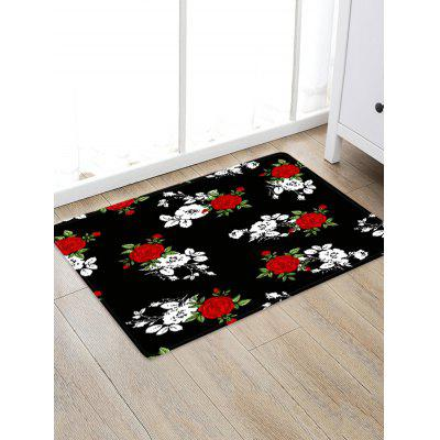 Valentine Flower Pattern Water Absorption Area Rug