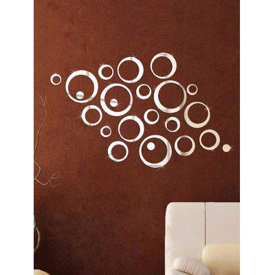 Circle Pattern 3D Mirror Wall Stickers