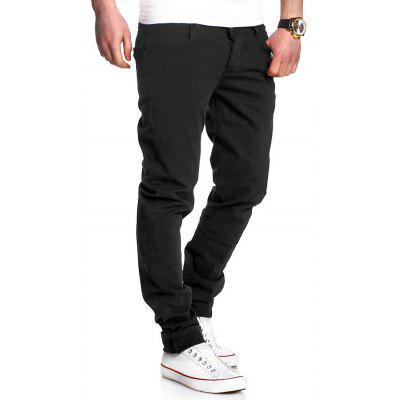 Zipper Fly Basic Straight Leg Pants
