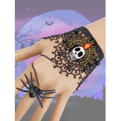 Halloween Party Skull Lace Spider Ring Bracelet
