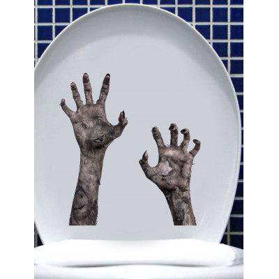 Halloween Zombie Hands Print Removable Wall Art Stickers