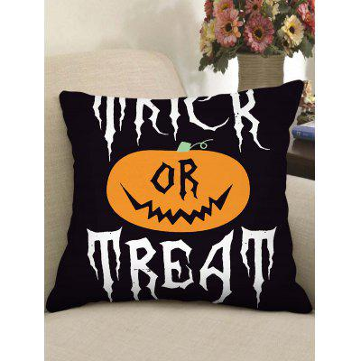 Halloween Pumpkin Witch Pattern Square Pillowcase