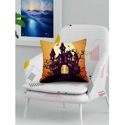 Halloween Pumpkin Tree Pattern Square Pillowcase