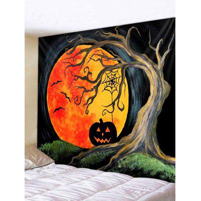 Halloween Digital Printing Moon Pumpkin Tapestry