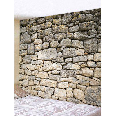 Stone Wall Printed Home Background Tapestry