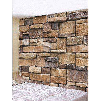 Square Stone Wall Pattern Home Decor Tapestry