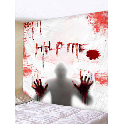 Halloween Blood Man Pattern Wall Hanging Tapestry