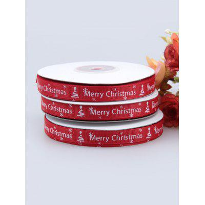 1CM Width Merry Christmas Tree Gift Packing Ribbon
