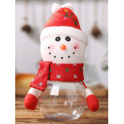 Christmas Snowman Shape Gift Candy Jar