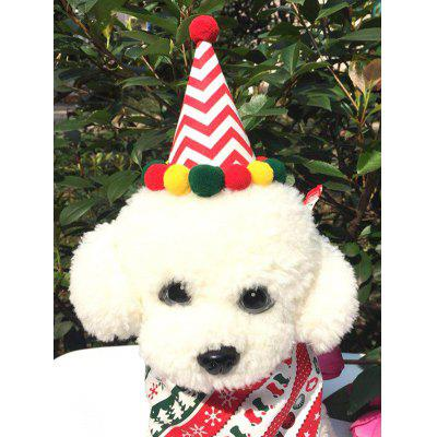 Pet Cosplay Clothes Dog Christmas Hat and Neck Scarf Set