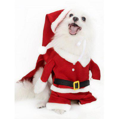 Christmas Santa Pet Hat Clothing Set