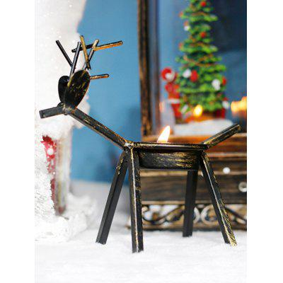 Christmas Decoration Retro Metal Elk Candle Holder