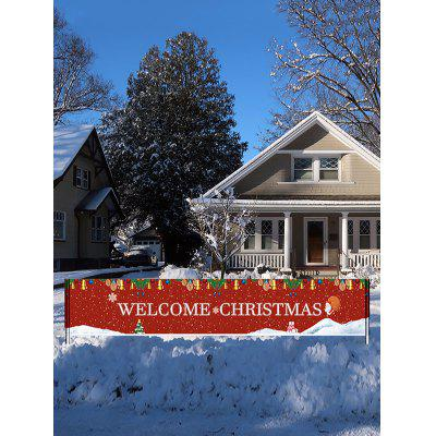 Christmas Printed Waterproof Decorative Banner