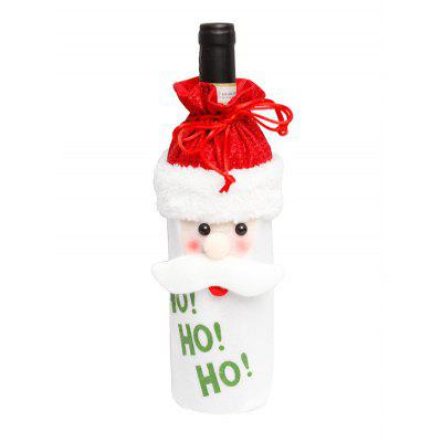 Christmas Cartoon Decorations Fuzzy Wine Bottle Cover