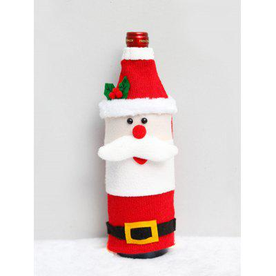 Christmas Cartoon Design Fuzzy Wine Bottle Cover