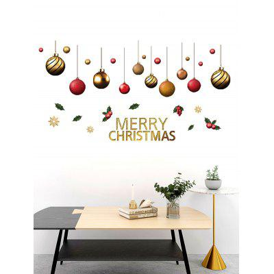 Christmas Balls Berry Print Removable Wall Stickers