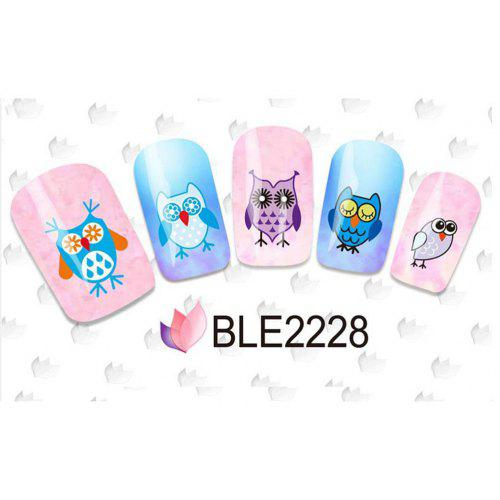 11 Styles Nail Art Stickers Watermark 3d Cute Owl Designs Styling