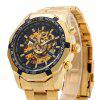 Winner F1205158 Male Automatic Mechanical Wrist Steel Strap - BLACK AND GOLDEN