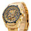 Winner F1205158 Male Automatic Mechanical Wrist Steel Strap - GOLDEN