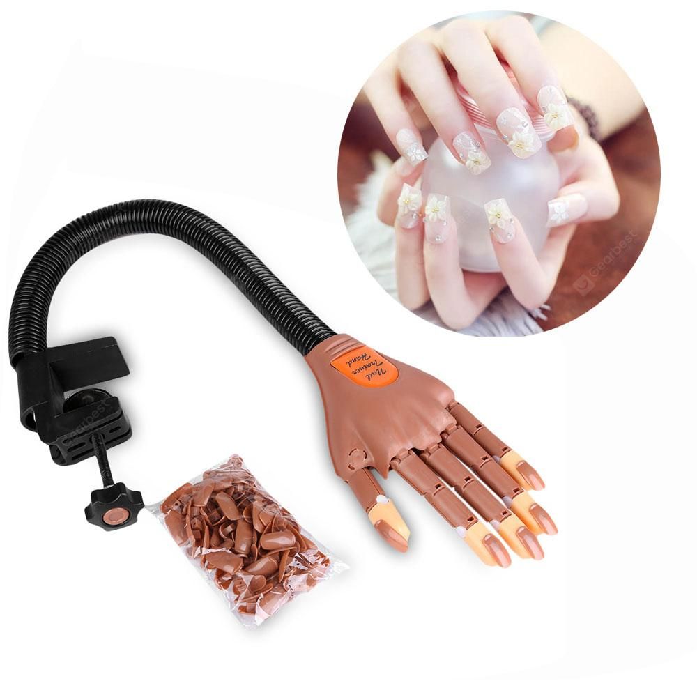 Professional 1 Hand + 100 Tips Nail Trainer Tool